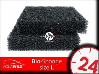 AQUAWILD Bio-Sponge [L] (BIOSL255) - Gruba gąbka filtracyjna o o perfekcyjnej przepuszczalnej strukturze.