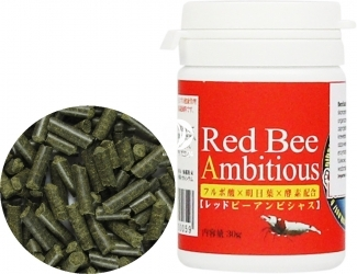 BENIBACHI Red Bee Ambitous 30g (b7BENIRBA30) - Pokarm dla krewetek z organicznym jarmużem w formie pałeczek