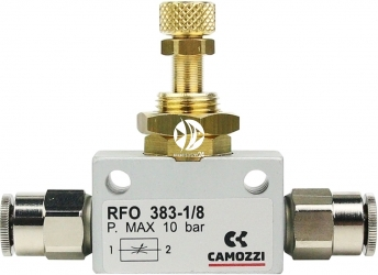 CAMOZZI Zestaw - Zaworek precyzyjny ze złączkami 6mm - Zestaw stosowany do regulacji gazu w zestawach CO2.