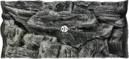 EKOL Tło Skała Szare 60x30 cm (SKSZ60x30) - Tło do akwarium z motywem skał, imitujące biotopy bez roślin jak Malawi, Tanganika