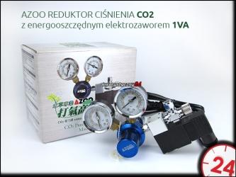 AZOO REDUKTOR CIŚNIENIA CO2 z energooszczędnym elektrozaworem 1VA (AZ19002)