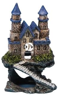 PENN PLAX Zamek Niebieski Mini 10cm (RRW5C) - Ozdoba akwariowa