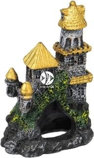 PENN PLAX Zamek Złoty Mini 10cm (RRW5D) - Ozdoba akwariowa