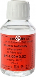 Hydromet Roztwór buforowy pH 4 100 ml (SB04-10M) - Płyn do kalibracji sond pH