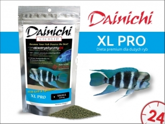 DAINICHI CICHLID XL Pro - Pokarm dla solidnych ryb jak Frontosa, Haplochromis, czy pielęgnic z rejonu Ameryki Środkowej