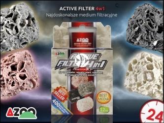 AZOO ACTIVE FILTER 4in1 (AZ16083) - Biologiczny wkład do filtra w akwarium o szerokim spektrum działania