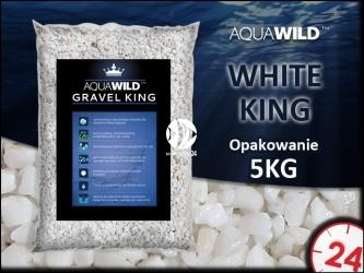 AQUAWILD WHITE KING - Naturalny żwir do akwarium w kolorze białym