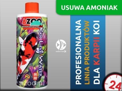 AZOO KOI LIVE WATER 1L - Uzdatniacz wody z dodatkami antybakteryjnymi