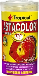 TROPICAL Astacolor - Intensywnie wybarwiający pokarm płatkowany dla paletek