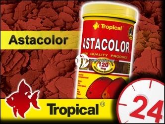 TROPICAL ASTACOLOR 185g/1L - intensywnie wybarwiający pokarm płatkowany dla paletek