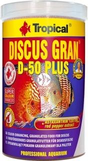 TROPICAL Discus Gran D-50 Plus - Wybarwiający pokarm w formie tonącego granulatu dla paletek