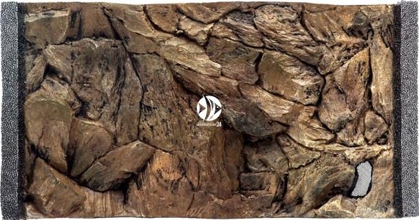 EKOL Tło Standard (ST50x30) - Tło uniwersalne do akwarium, zawiera motywy skał i korzeni
