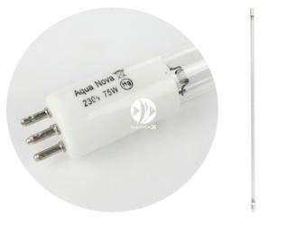AQUA NOVA Promiennik UV 75W (75WUV) - Żarnik uniwersalny pasujący do trzonka T-5