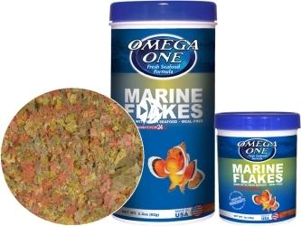 OMEGA ONE Garlic Marine Flakes (01381) - Pokarm w płatkach dla ryb morskich