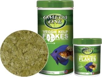 OMEGA ONE Veggie Kelp Flakes (91321) - Pokarm w płatkach dla ryb roślinożernych