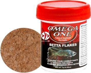 OMEGA ONE Betta Flakes 7g (01171) - Pokarm w płatkach dla bojowników