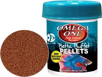 OMEGA ONE Betta Pellets 28g (02371) - Pływający pokarm granulowany dla bojowników