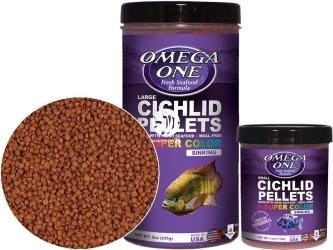 OMEGA ONE Super Color Cichlid Pellets (83331) - Tonący pokarm wybarwiający w granulkach dla pielęgnic