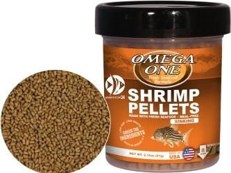 OMEGA ONE Shrimp Pellets (03291) - Tonący pokarm w granulkach dla ryb mięsożernych i dennych