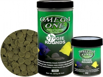 OMEGA ONE Veggie Rounds (05221) - Tonący pokarm w krążkach dla glonojadów