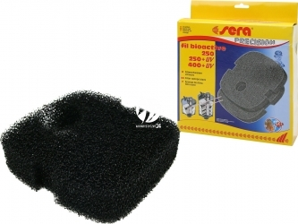 SERA Gąbka czarna (30633) - Komplet 2 czarnych gąbek filtracyjnych do filtrów BioActive 250/250+UV/400/400+UV