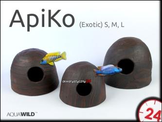 AQUAWILD ApiKo (Exotic) (CKE0D0) - Ceramiczny kokos dla pielęgniczek i mniejszych pielęgnic