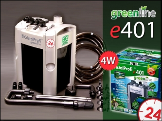 JBL CRISTALPROFI GREENLINE e401 (60200) - Energooszczędny filtr zewnętrzny do akwarium 40-120l