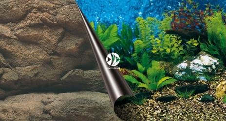 EBI Tło dwustronne Sea + Rock (241-108758) - Fototapeta do przyklejenia na tylną szybę akwarium.