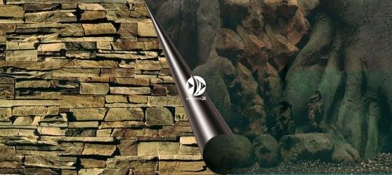 EBI Tło dwustronne Tree + Rock (241-108994) - Fototapeta do przyklejenia na tylną szybę akwarium.