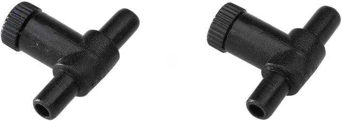 EBI Zaworek Regulacyjny na wąż 6/4mm (2 sztuki) (223-103159) - Reguluje przepływ powietrza z pompki napowietrzającej do akwarium