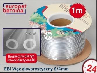 EBI Wąż akwarystyczny PVC 6/4mm / 1m cięty z rolki