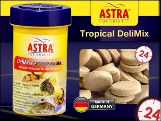 ASTRA-aquaristik Tropical DeliMix 100ml/110Tabletek - Przysmak dla ryb w formie przylepnych tabletek
