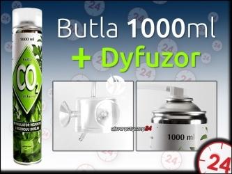PLANTIS BUTLA CO2 1000ml + DYFUZOR CO2 - Zestaw Co2 do małych akwariów.