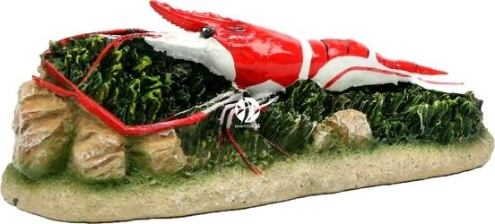 AQUA DELLA Shrimp Red (234-418659) - Ręcznie malowana czerwono-biała krewetka do akwarium