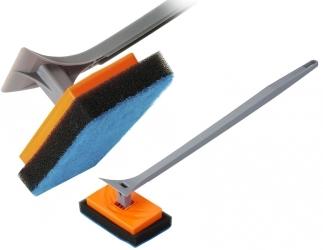 AQUA DELLA Czyścik z ruchomą końcówką z gąbki 41,5cm (212-419809) - Skrobak z chropowatą gąbką