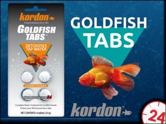 KORDON GOLDFISH TABS (39116) - Musujące tabletki do uzdatniania wody dla złotych rybek