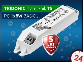 TRIDONIC Statecznik Elektroniczny T5 1x4-13W PC BASIC sl | Obsługuje świetlówkę 8W