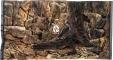 EKOL Tło Standard (ST50x30) - Tło uniwersalne do akwarium, zawiera motywy skał i korzeni 100x60 cm