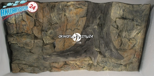 TŁO STRUKTURALNE 100x60 cm - Motyw mieszany, skała i korzeń.
