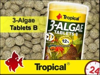 TROPICAL 3-Algae Tablets B | Tonące tabletki dla ryb dennych i skorupiaków