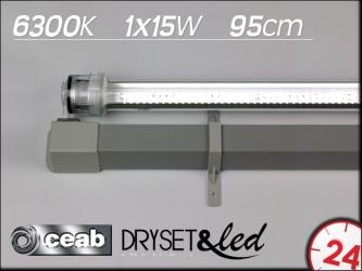 CEAB Dryset&Led 6300K 1x15W 95cm (DLD100) | Zestaw oświetleniowy LED do obudowy/zabudowy