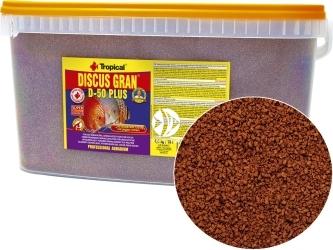 TROPICAL Discus Gran D-50 Plus 4,4kg/10L (61619) - Wybarwiający pokarm w formie tonącego granulatu dla paletek