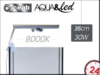 CEAB Aqua&Led 1x30W 8000K (ALCX3100) - Oświetlenie Led do akwarium słodkowodnego i roślinnego.