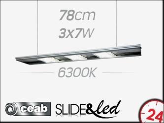 CEAB SLIDE&Led 6300K 3x7W 78cm (SLD80) | Energooszczędne, modułowe oświetlenie Led do akwarium słodkowodnego.