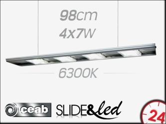 CEAB SLIDE&Led 6300K 4x7W 98cm (SLD100) | Energooszczędne, modułowe oświetlenie Led do akwarium słodkowodnego.
