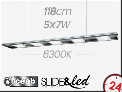CEAB SLIDE&Led 6300K 5x7W 118cm (SLD120) | Energooszczędne, modułowe oświetlenie Led do akwarium słodkowodnego.