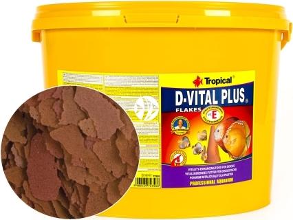 TROPICAL D-Vital Plus - Witalizujący pokarm płatkowany dla paletek, z witaminą E