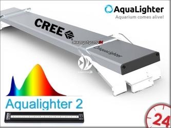 AQUALIGHTER 2 Srebrny 90cm (Freshwater) (82372) - Oświetlenie Led do akwarium słodkowodnego na diodach Cree