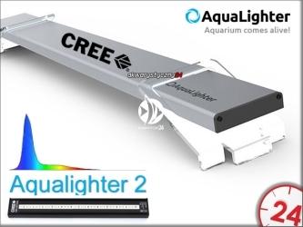 AQUALIGHTER 2 Srebrny 30cm (Marine) (87612) - Oświetlenie Led do akwarium morskiego na diodach Cree
