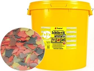 TROPICAL Ichtio-Vit 4kg/21L (74409) - Wieloskładnikowy, podstawowy pokarm płatkowany